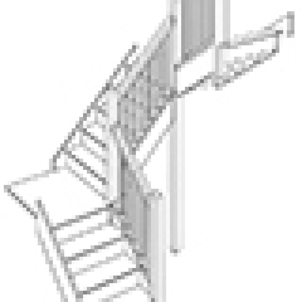 Лестница с поворотными площадками на 180 градусов