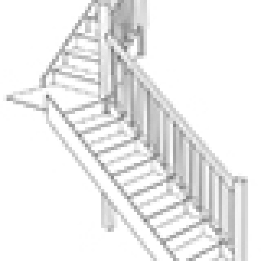 Лестница с поворотной площадкой на 90